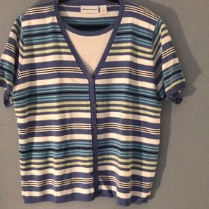 Alfred dunner s/s striped sweater